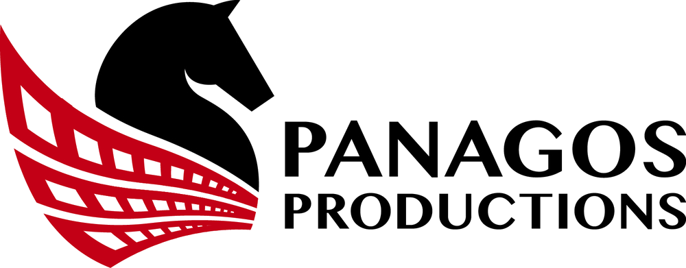 Logo and Link to Panagos Productions - Souths Logan Magpies Jersey Sponsor