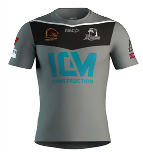 Souths Logan Magpies replica training shirt for kids