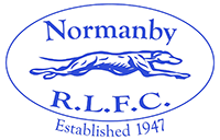 Logo and link to the Normanby Hounds Rugby League Club