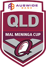 Logo and link to the Auswide Bank QRL Mal Meninga Cup competition